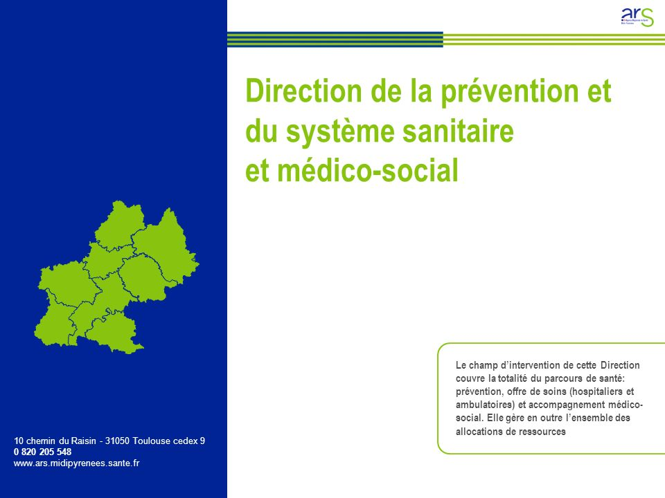 Direction de la prévention et du système sanitaire et médico-social