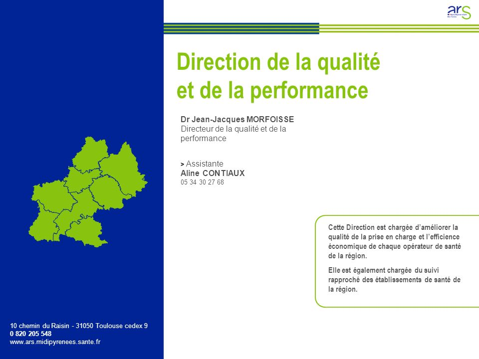 Direction de la qualité et de la performance