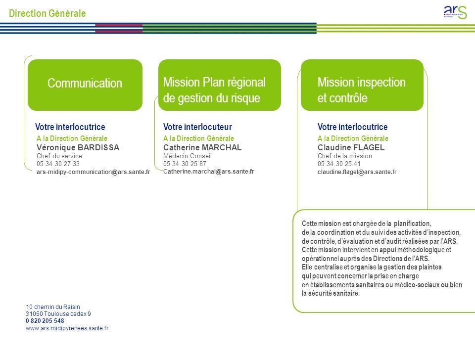Communication Mission Plan régional de gestion du risque