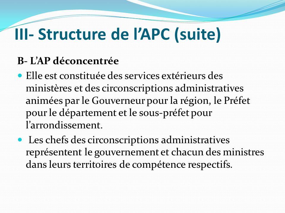 III- Structure de l'APC (suite)