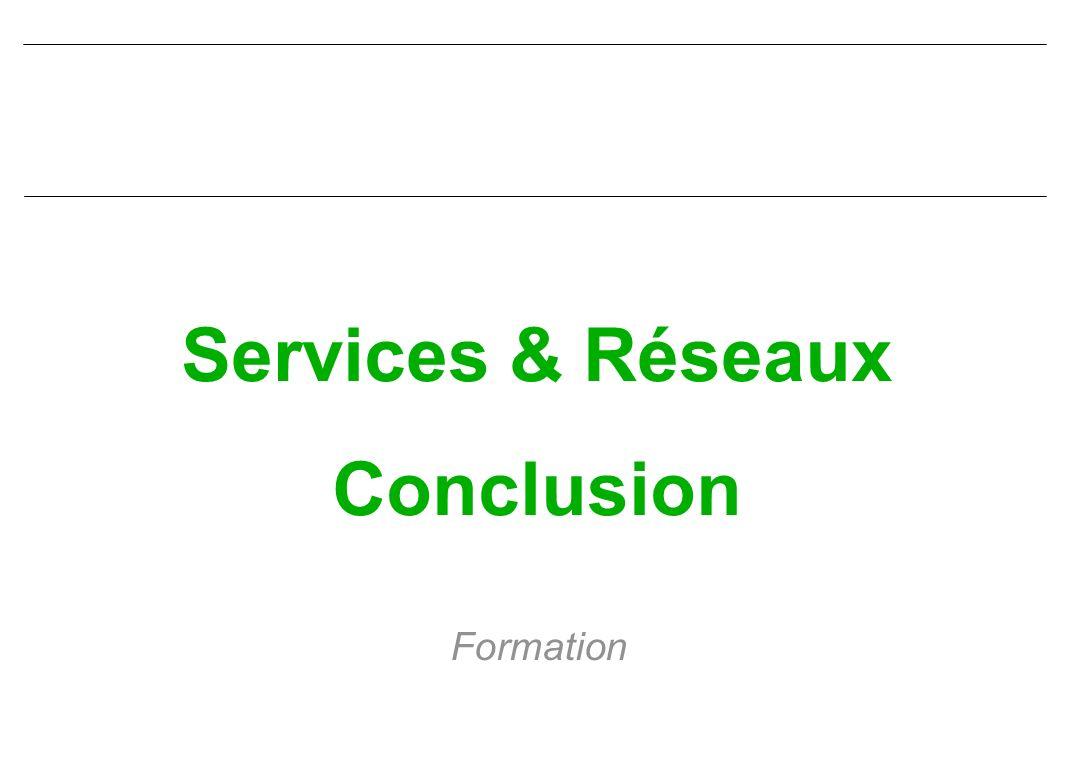 Services & Réseaux Conclusion