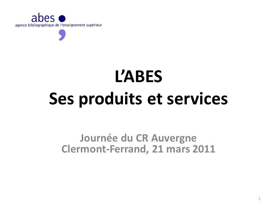 L'ABES Ses produits et services