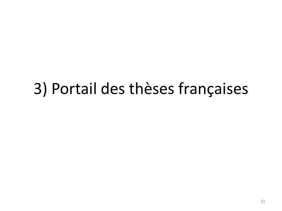 3) Portail des thèses françaises