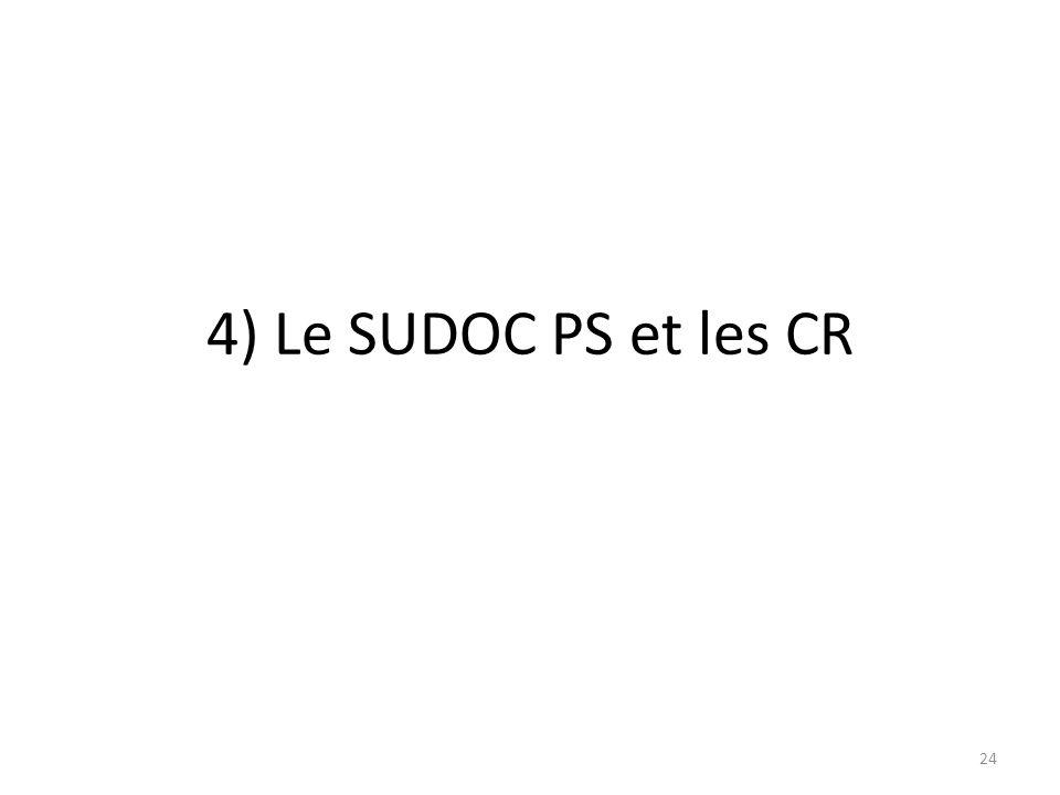 4) Le SUDOC PS et les CR