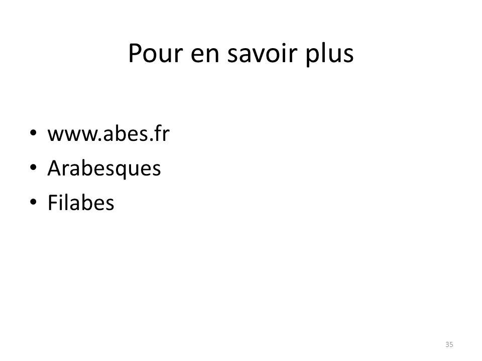 Pour en savoir plus www.abes.fr Arabesques Filabes