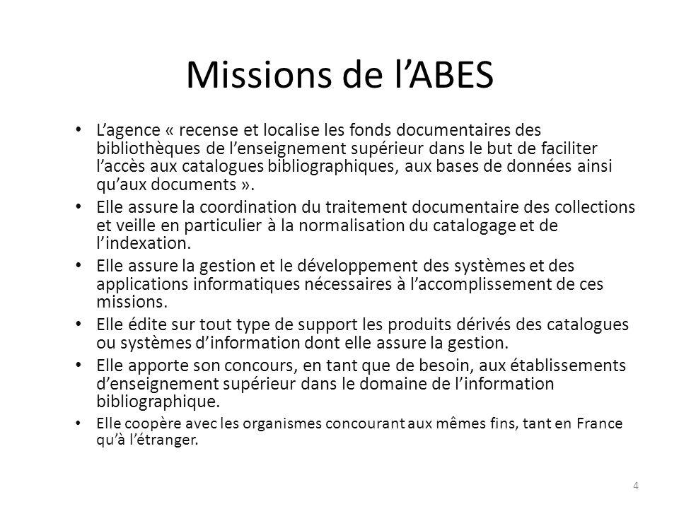 Missions de l'ABES