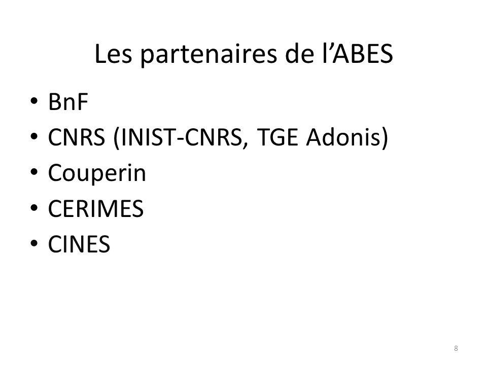 Les partenaires de l'ABES