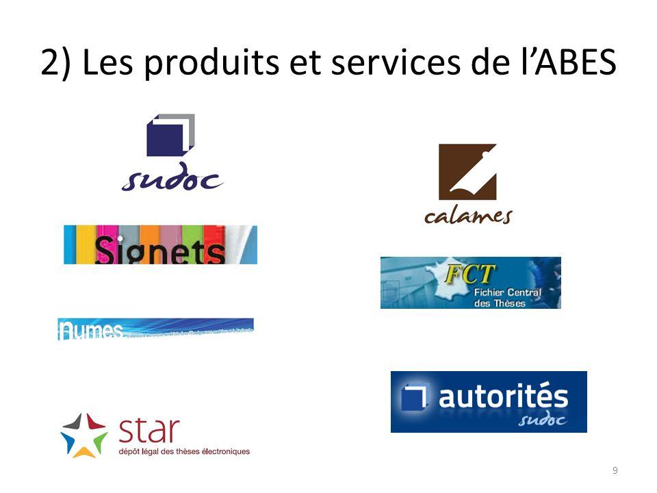 2) Les produits et services de l'ABES