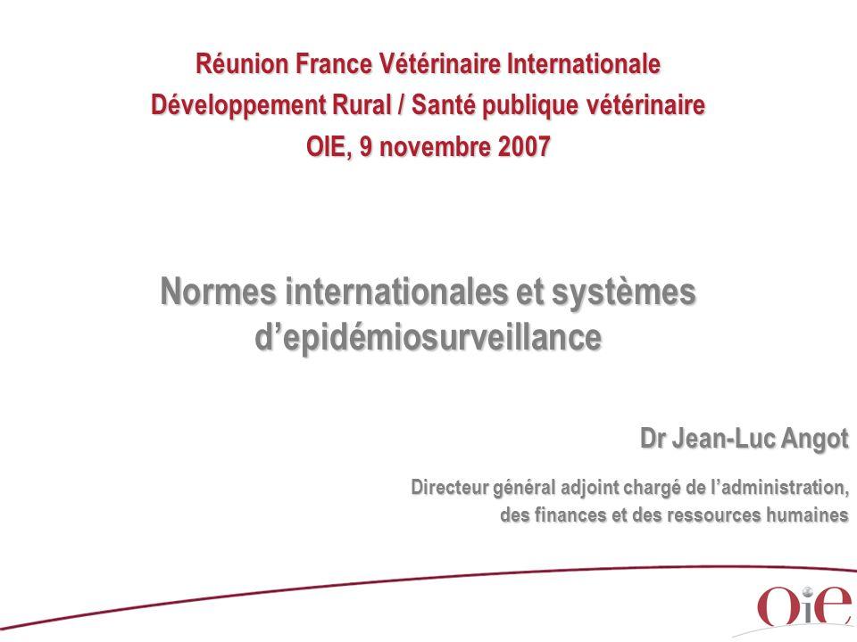Normes internationales et systèmes d'epidémiosurveillance