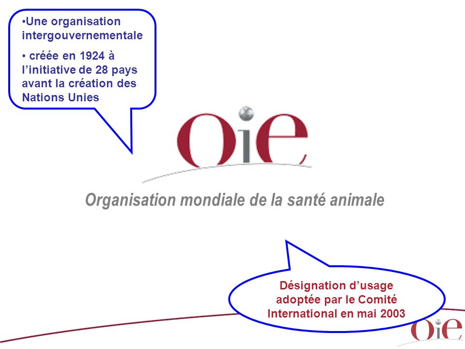 Organisation mondiale de la santé animale