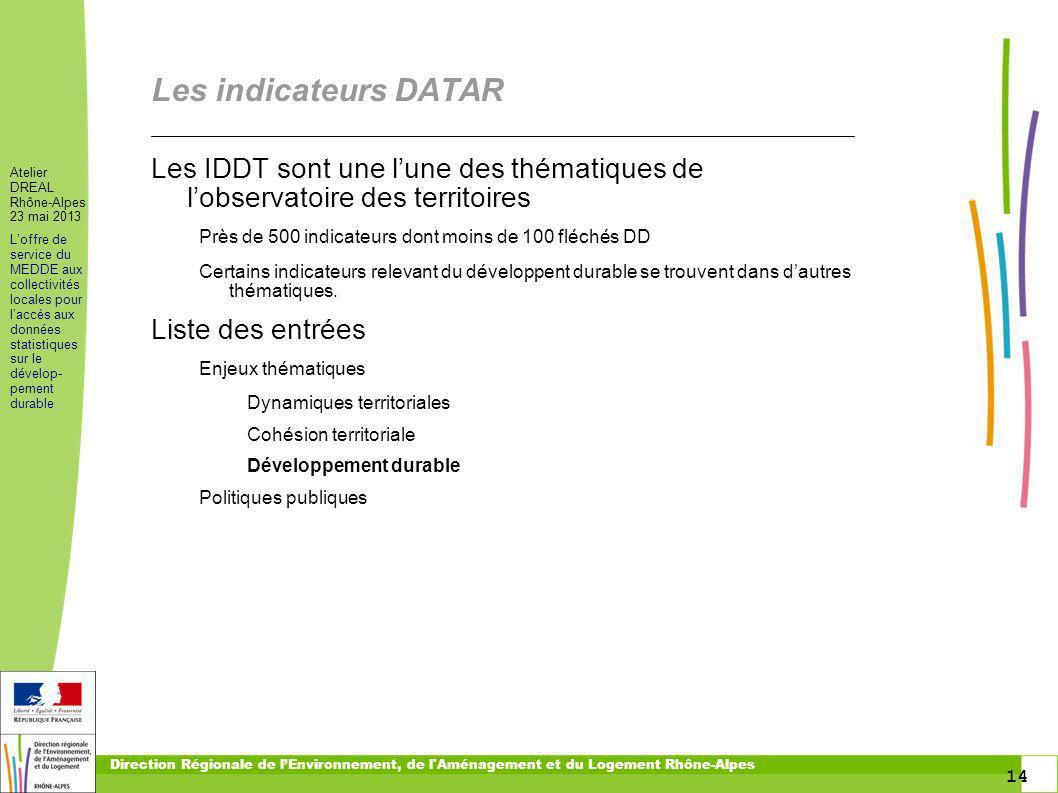 toitototototoot Les indicateurs DATAR. Les IDDT sont une l'une des thématiques de l'observatoire des territoires.