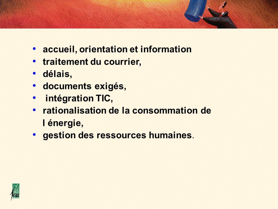 accueil, orientation et information