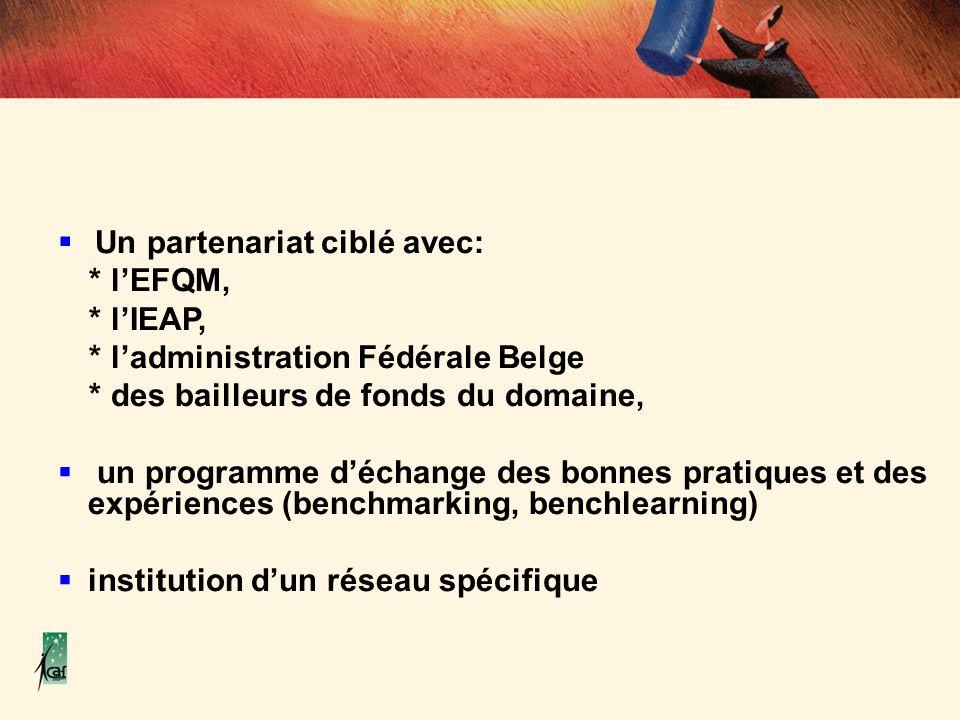 * l'administration Fédérale Belge * des bailleurs de fonds du domaine,