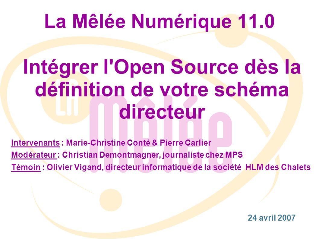 Intégrer l Open Source dès la définition de votre schéma directeur