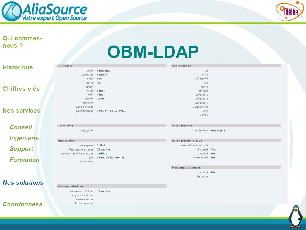 OBM-LDAP Qui sommes-nous Historique Chiffres clés Nos services