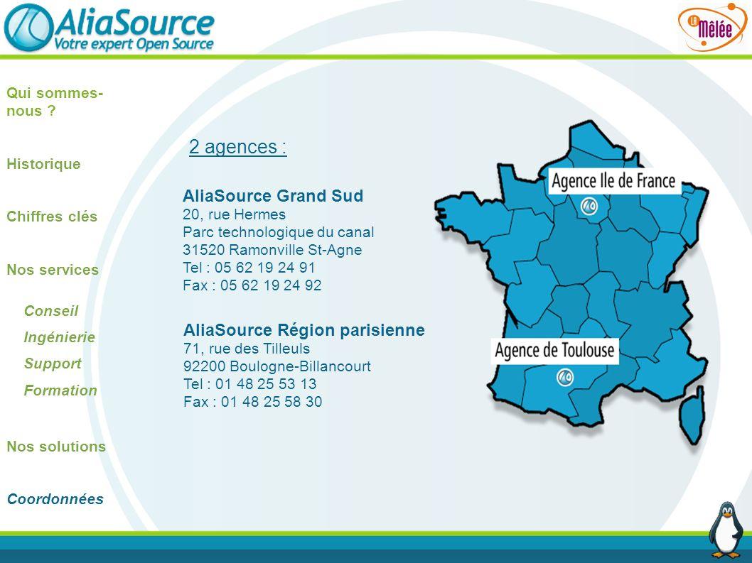 2 agences : AliaSource Grand Sud AliaSource Région parisienne