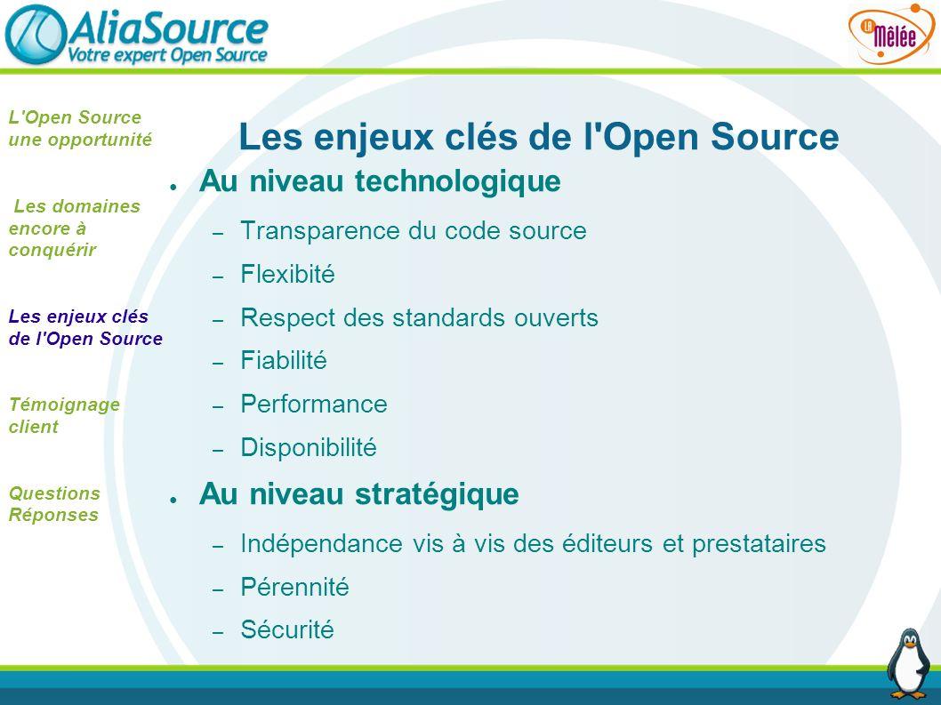 Les enjeux clés de l Open Source