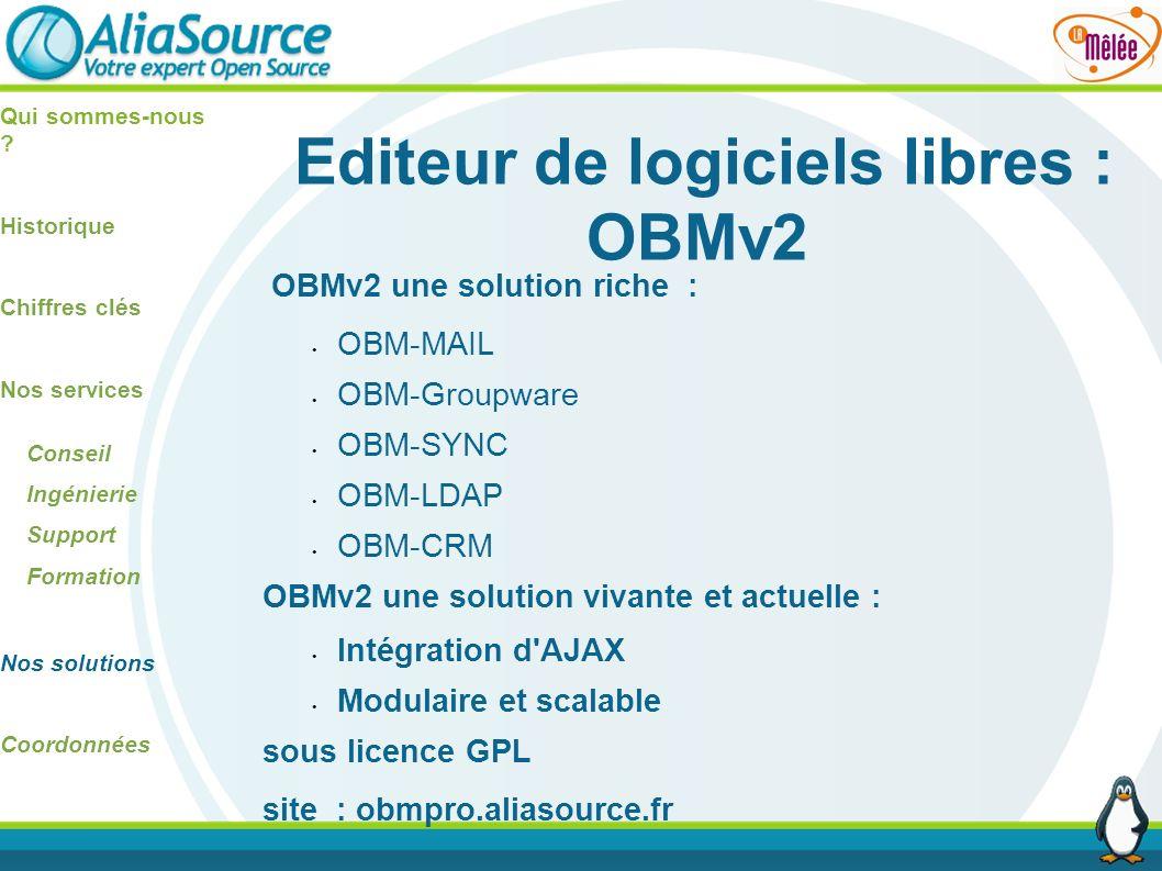 Editeur de logiciels libres : OBMv2