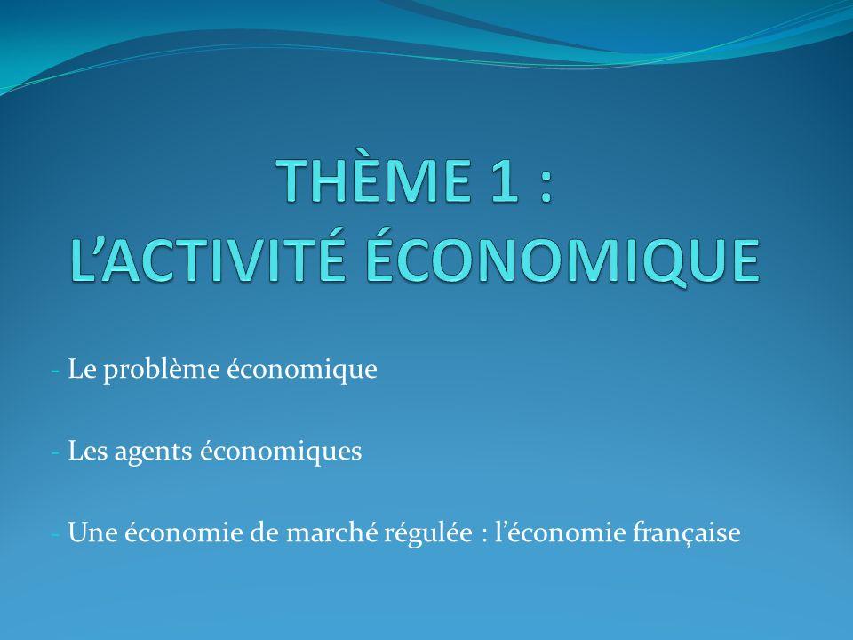 THÈME 1 : L'ACTIVITÉ ÉCONOMIQUE