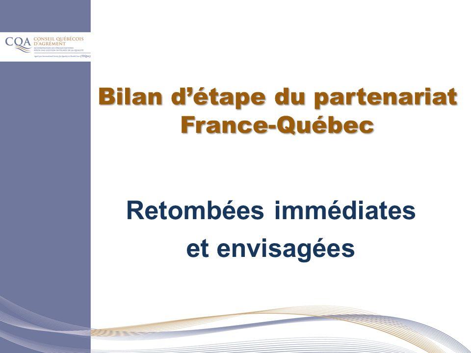 Bilan d'étape du partenariat France-Québec