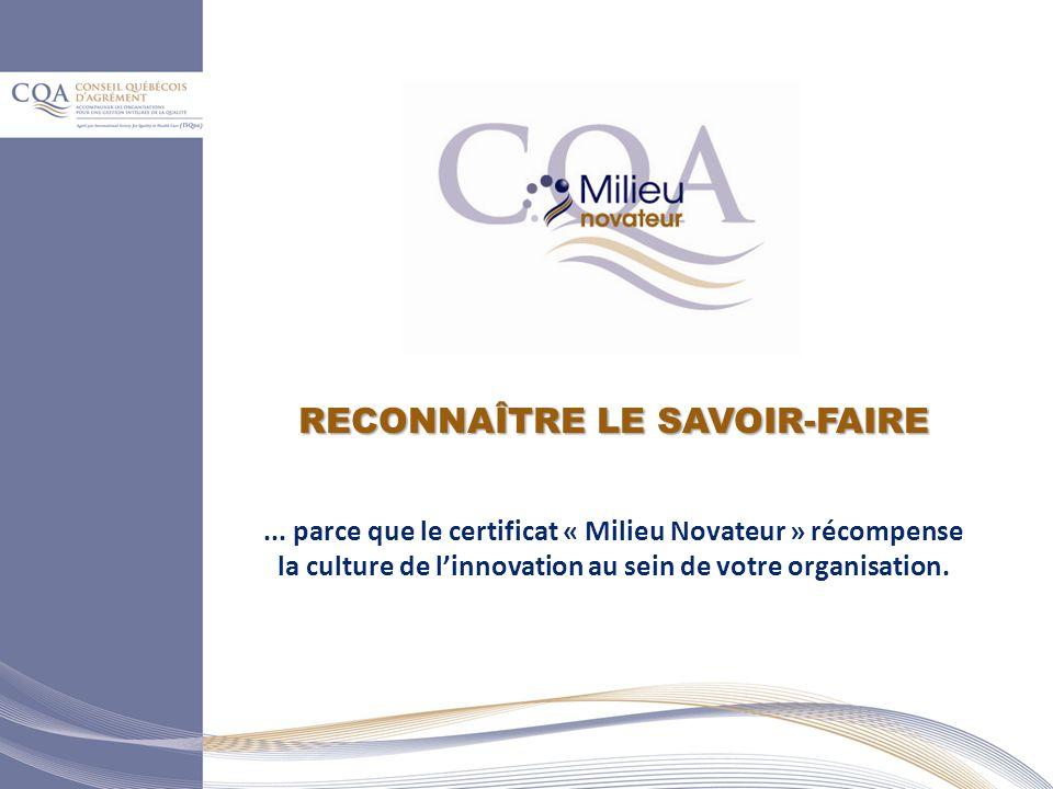RECONNAÎTRE LE SAVOIR-FAIRE