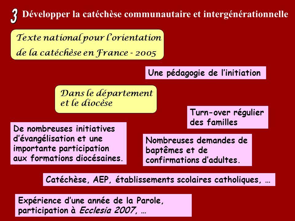 Développer la catéchèse communautaire et intergénérationnelle