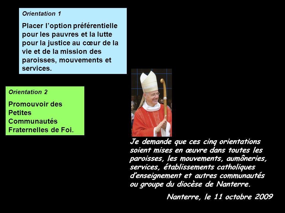 Promouvoir des Petites Communautés Fraternelles de Foi.