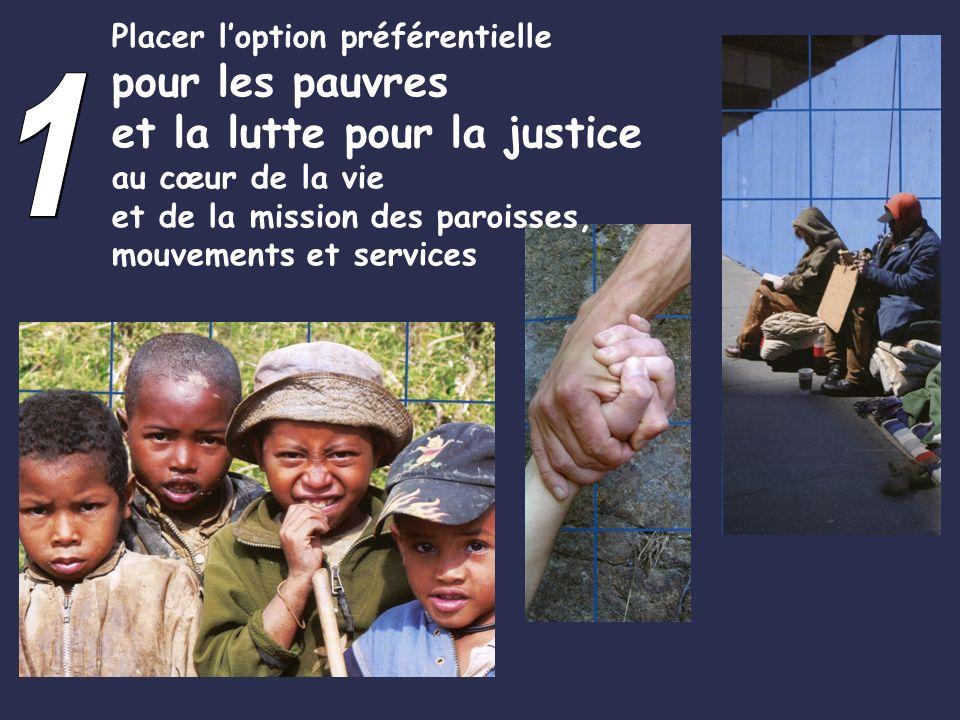 1 pour les pauvres et la lutte pour la justice