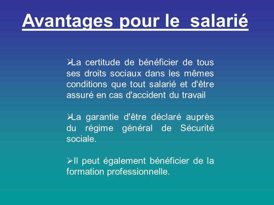 Avantages pour le salarié