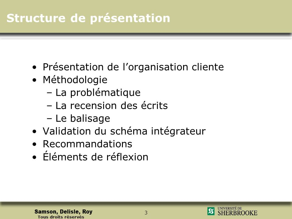 Structure de présentation