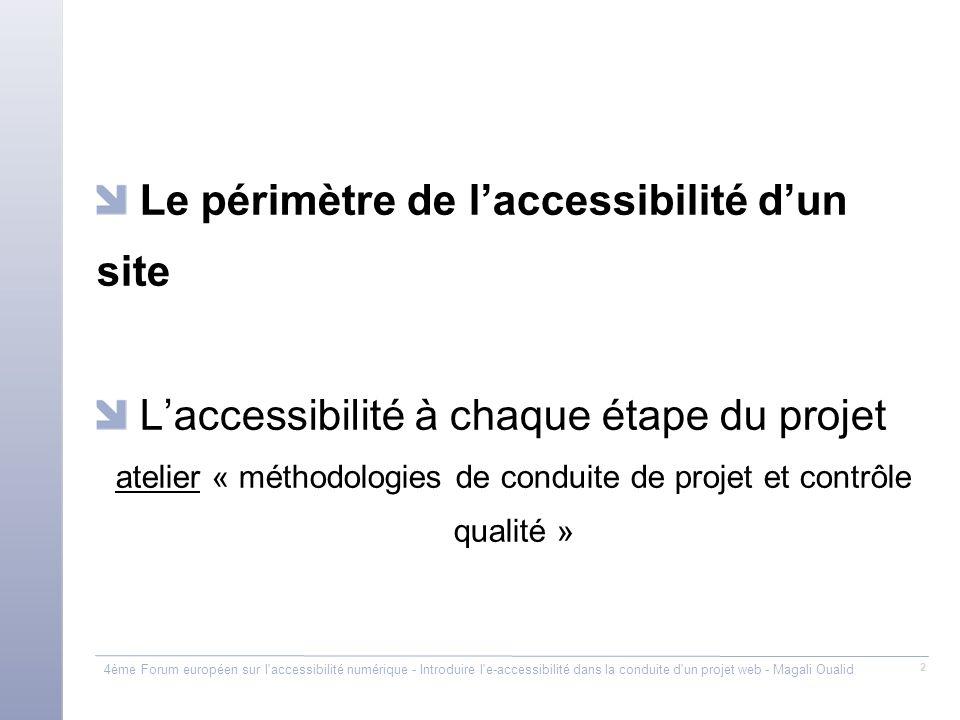 atelier « méthodologies de conduite de projet et contrôle qualité »