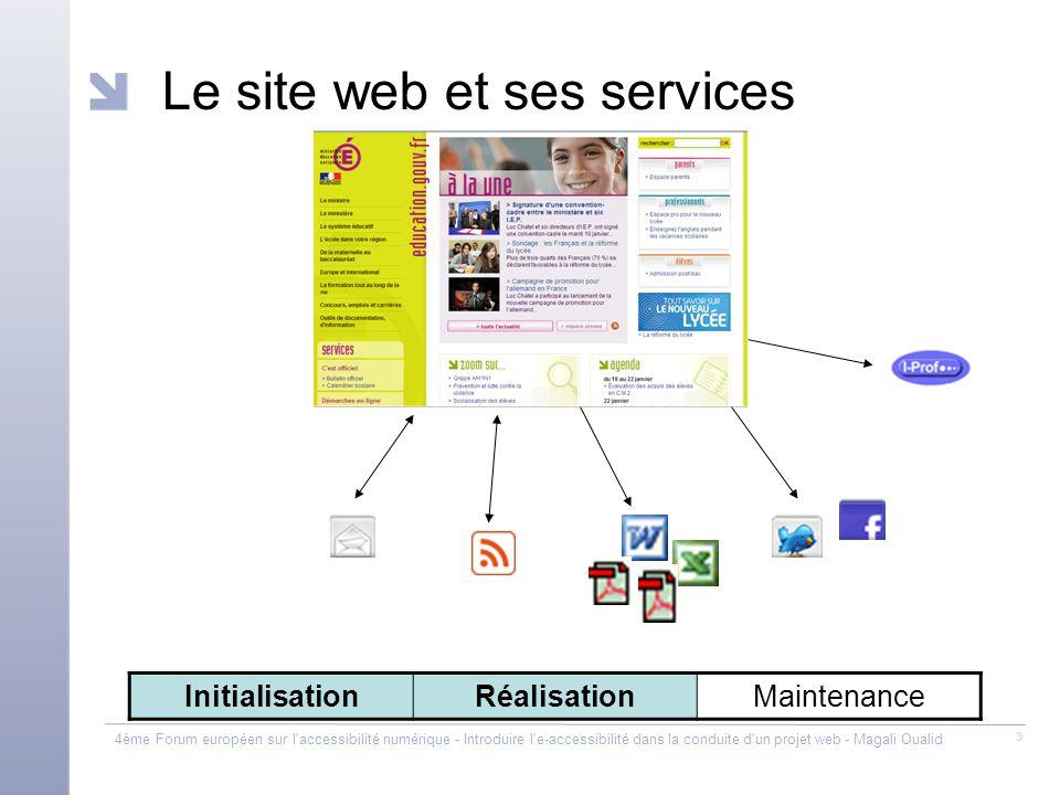 Le site web et ses services