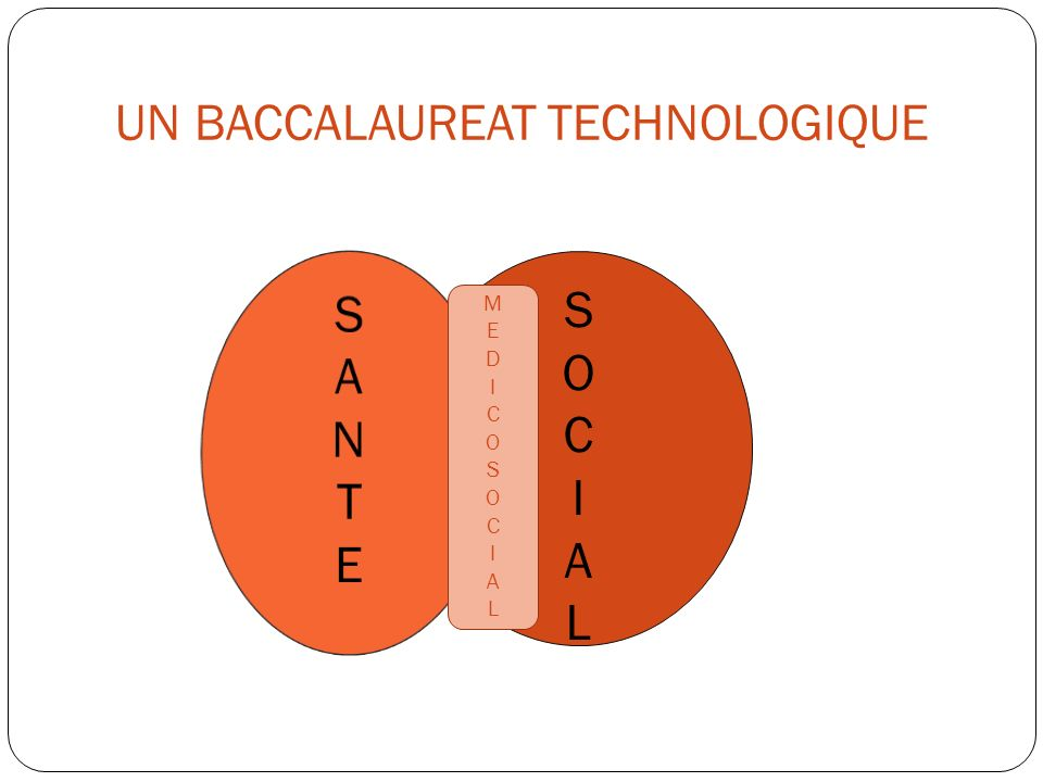 UN BACCALAUREAT TECHNOLOGIQUE