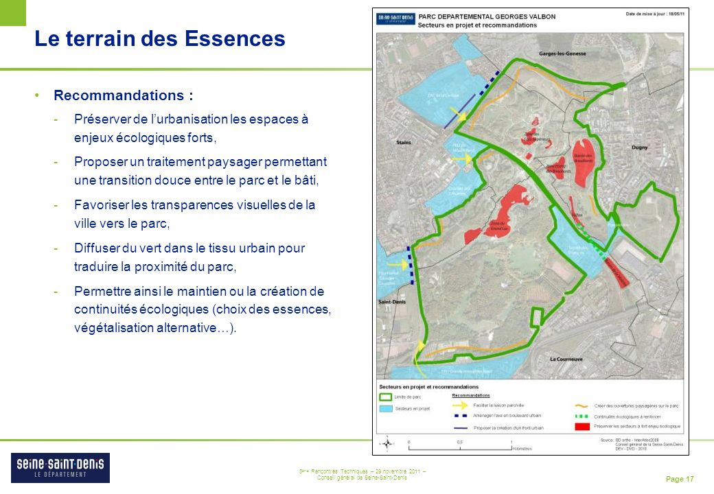 Le terrain des Essences