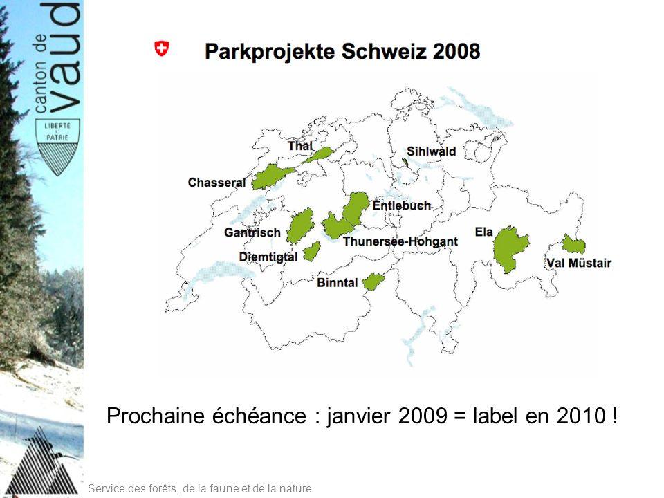 Prochaine échéance : janvier 2009 = label en 2010 !