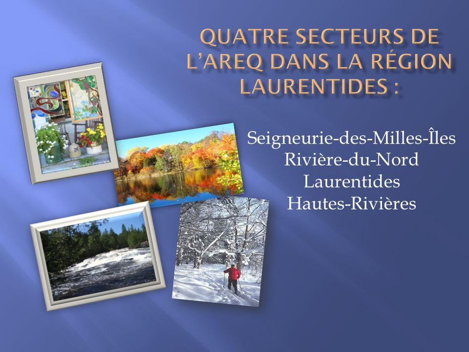Quatre secteurs de l'AREQ dans la région Laurentides :
