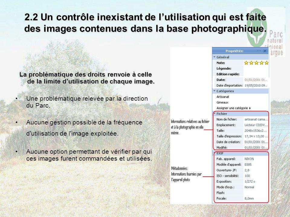 2.2 Un contrôle inexistant de l'utilisation qui est faite des images contenues dans la base photographique.