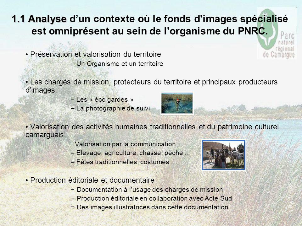 1.1 Analyse d'un contexte où le fonds d images spécialisé est omniprésent au sein de l organisme du PNRC.