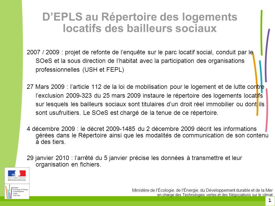 D'EPLS au Répertoire des logements locatifs des bailleurs sociaux