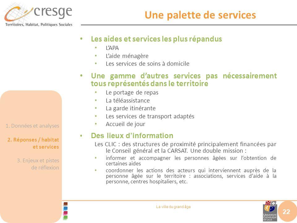 Une palette de services