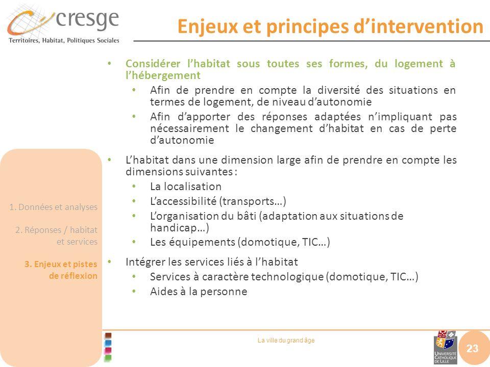 Enjeux et principes d'intervention