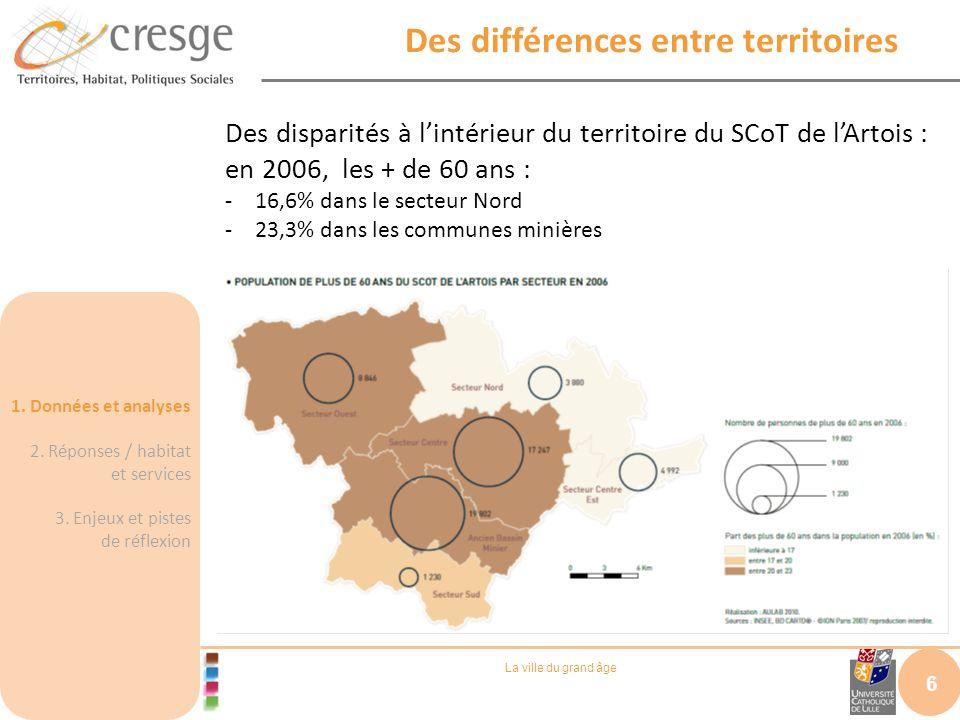 Des différences entre territoires