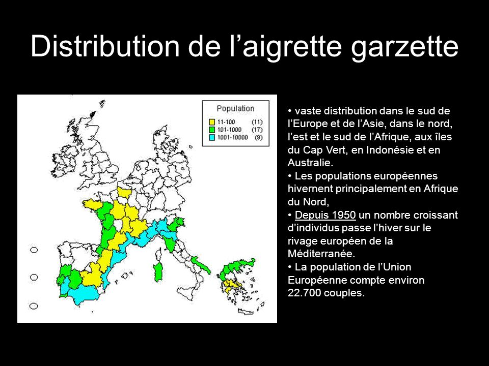 Distribution de l'aigrette garzette