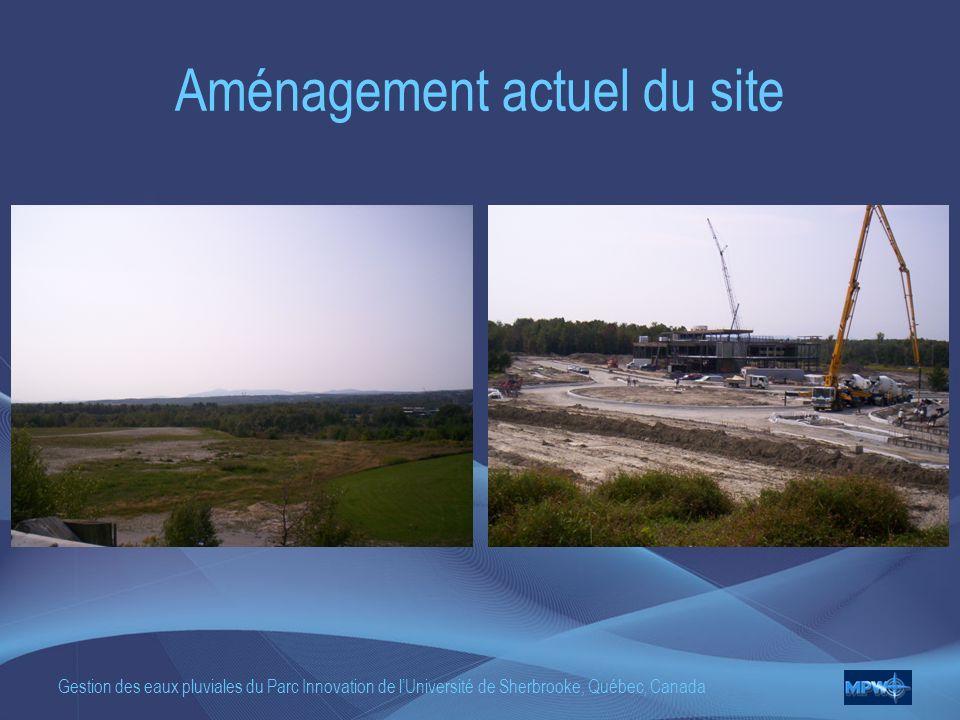 Aménagement actuel du site
