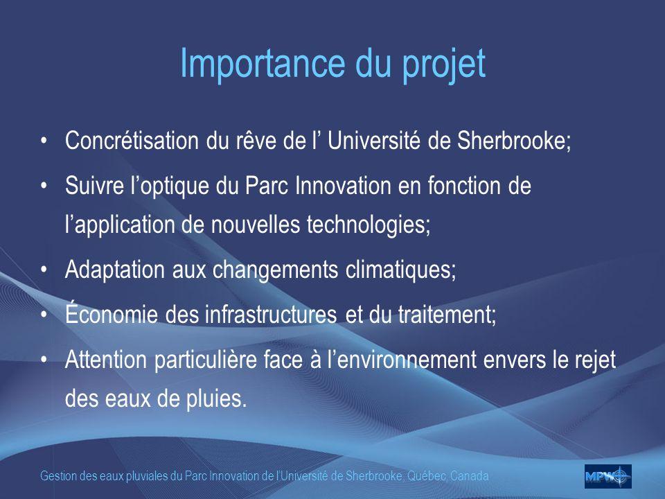 Importance du projet Concrétisation du rêve de l' Université de Sherbrooke;