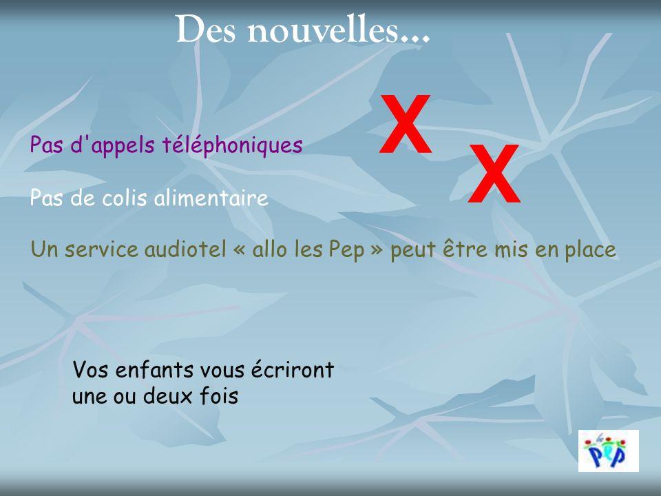 Un service audiotel « allo les Pep » peut être mis en place