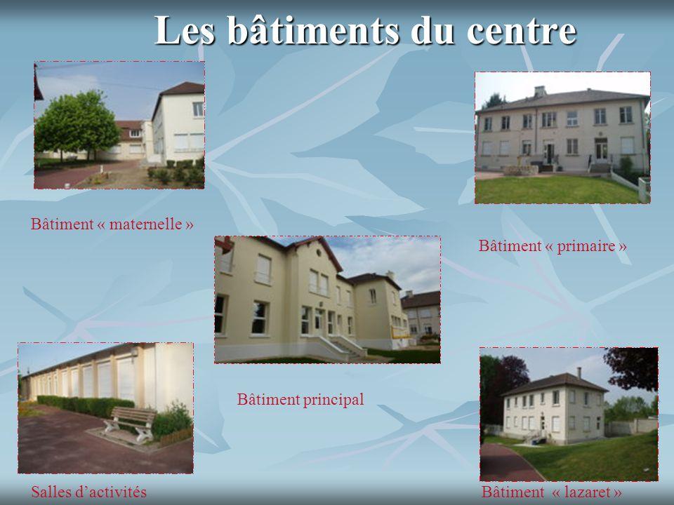 Les bâtiments du centre