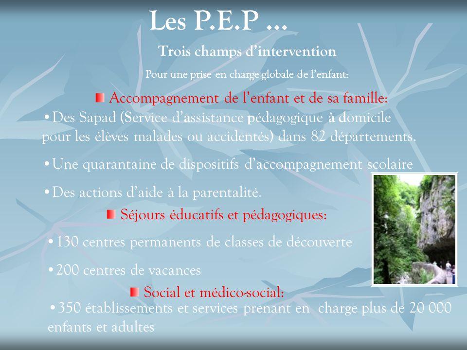 Les P.E.P … Trois champs d'intervention