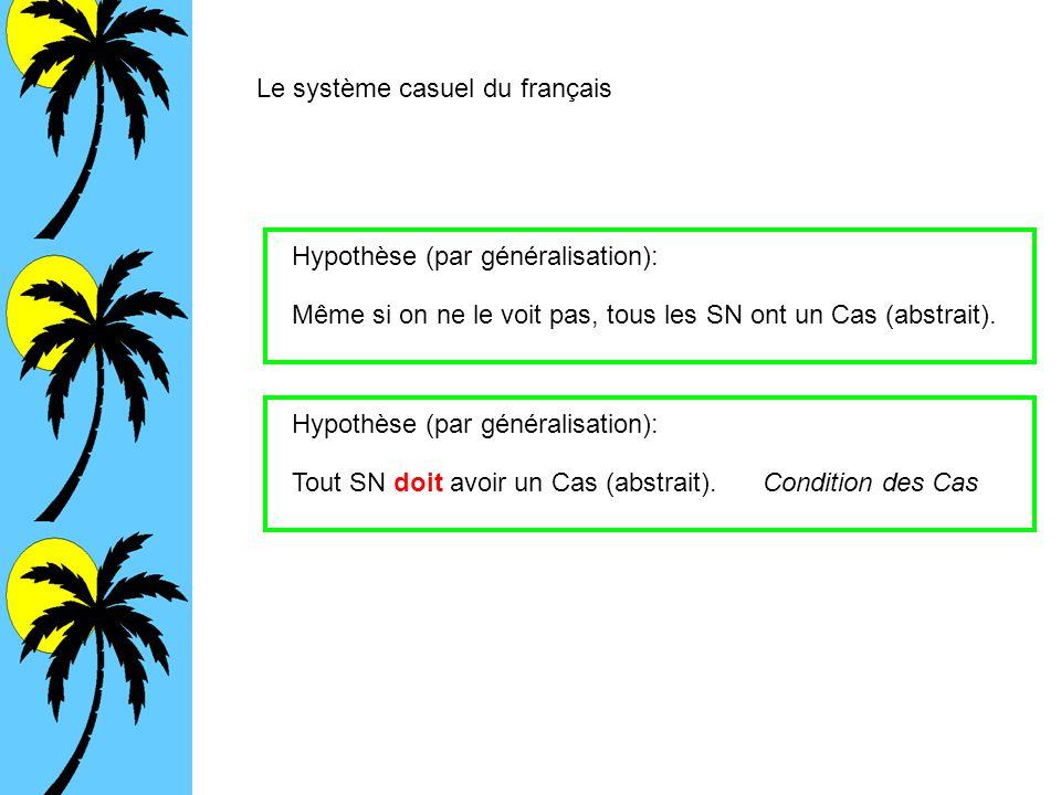 Le système casuel du français