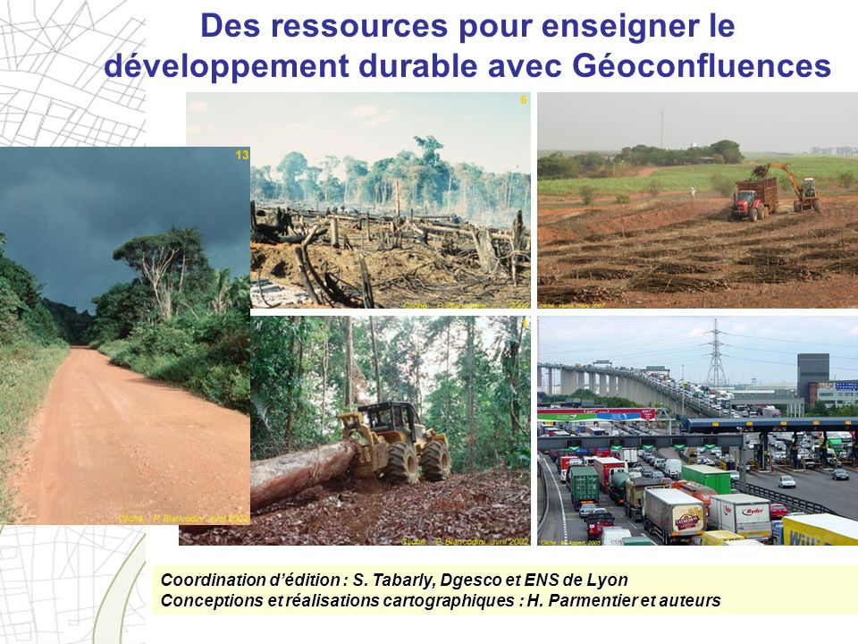 Des ressources pour enseigner le développement durable avec Géoconfluences